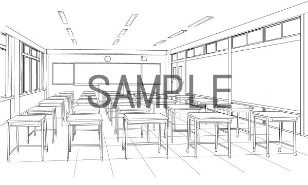 素材(教室2)サンプル