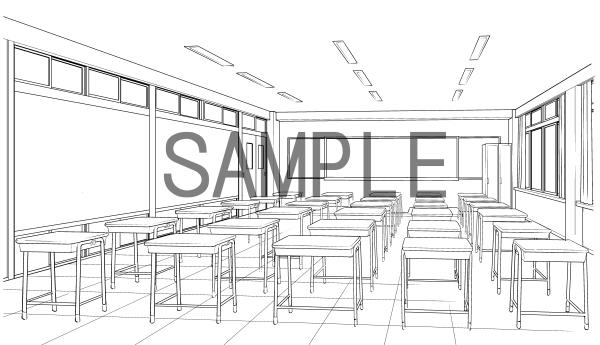 素材(教室3)サンプル