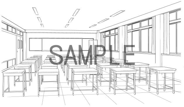 素材(教室4)サンプル