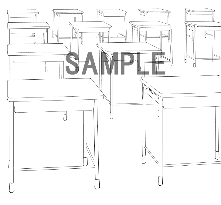 素材2(机)サンプル
