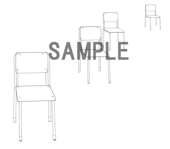 素材2(椅子)サンプル